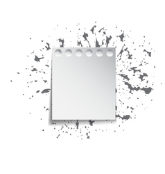 Paper sheet on a background of ink splashes vector