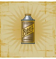 Retro Beer Can vector image