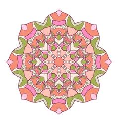 Round decorative ornament vector image