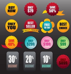 labels stickers business vector image