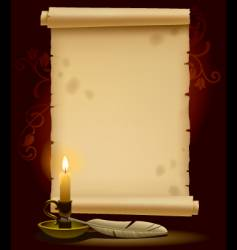 old parchment with a light vector image