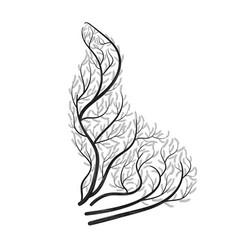 sea lion bush stylization vector image vector image