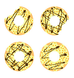 set of donuts4 vector image vector image