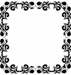 beauty frame vector image vector image