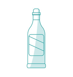 blue silhouette shading cartoon glass bottle of vector image vector image