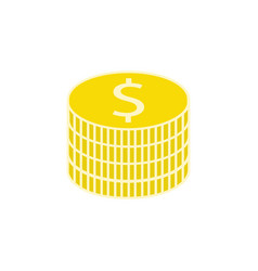 coins flat icon finance and business vector image vector image