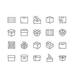 Line Box Icons vector image vector image