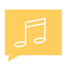 music note silhouette icon pictogram vector image vector image