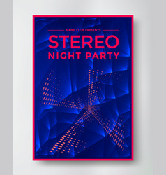 night party electro sound vector image