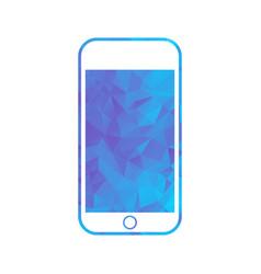 polygon icon phone vector image
