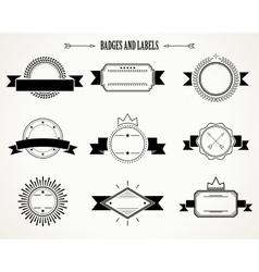 retro badges and labels vector image vector image
