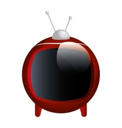 tv old device isolated icon vector image