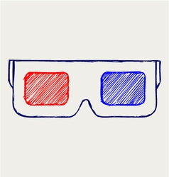 3-d glasses vector