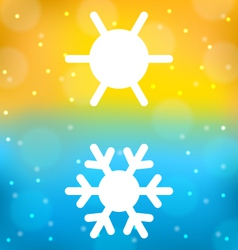 Abstract background with logo symbol climate vector