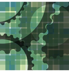 Abstract blur background with gears vector