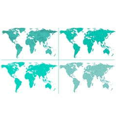 Abstract world maps vector image