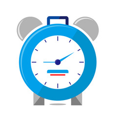 alarm clock logo icon isolated watch object vector image