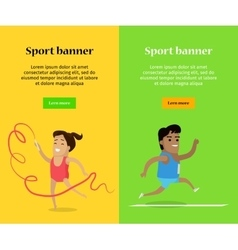 Artistic gymnastics and athletics sport template vector