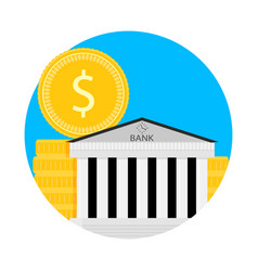 bank financial capitalization icon vector image