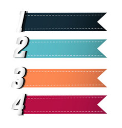 banner colourful ribbon tag image vector image