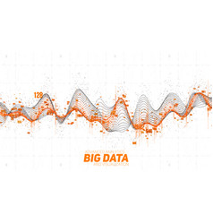 Big data wave visualization futuristic vector
