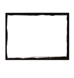 Black grunge frame vector