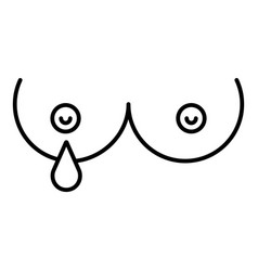 breast lactation icon outline style vector image