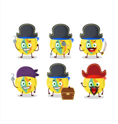 Character yellow marbles with various pirates vector