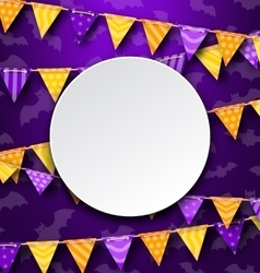 Clean Card with Colorful Bunting vector
