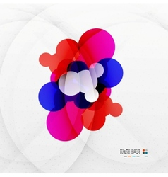 Colorful rainbow bubbles abstract background vector image