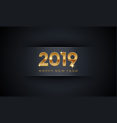 creative luxury happy new year 2019 vector image