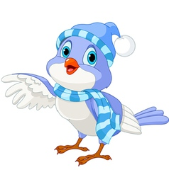 Cute Winter Bird vector image