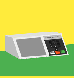 electronic machine brazilian voting urn vector image