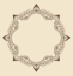Fine floral round frame decorative element for vector