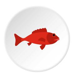 Fish icon circle vector