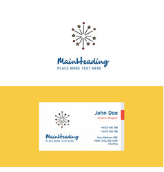 flat blast logo and visiting card template vector image