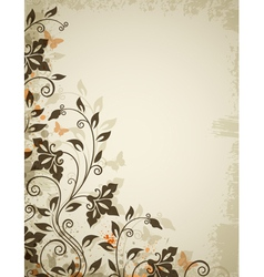 Floral background old vector