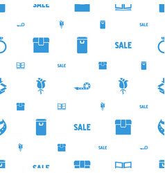 Gift icons pattern seamless white background vector