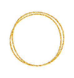 gold frame round beautiful simple golden design vector image