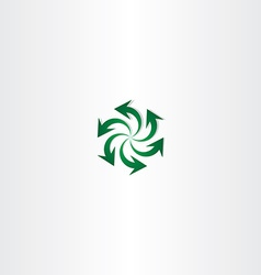 Green arrow symbol recycle spiral sign logo vector