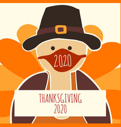 greeting card template thanksgiving 2020 fully vector image