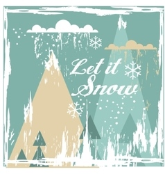 Greeting card with Winter Landscape vector image