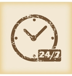 Grungy overnight daily icon vector