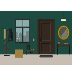 Hallway interior with furniture vector image