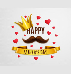 happy dad day background vector image