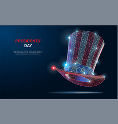 happy president s day design background with uncle vector image
