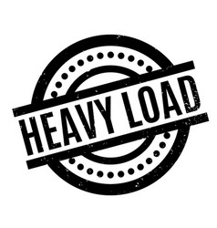 Heavy load rubber stamp vector