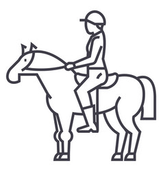 Horse line vector