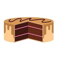 incomplete birthday cake icon vector image
