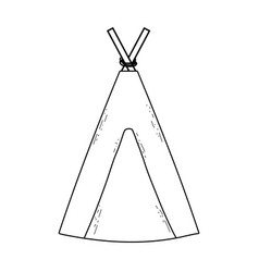 Indian camping tent icon vector